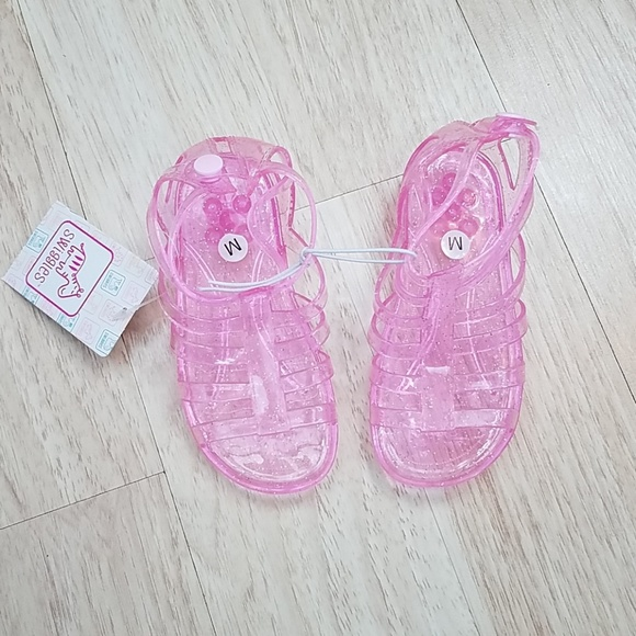Swiggles Toddler Sandals size M 7//8 L9//10 NEW With Tags Pink Clear Gel Type